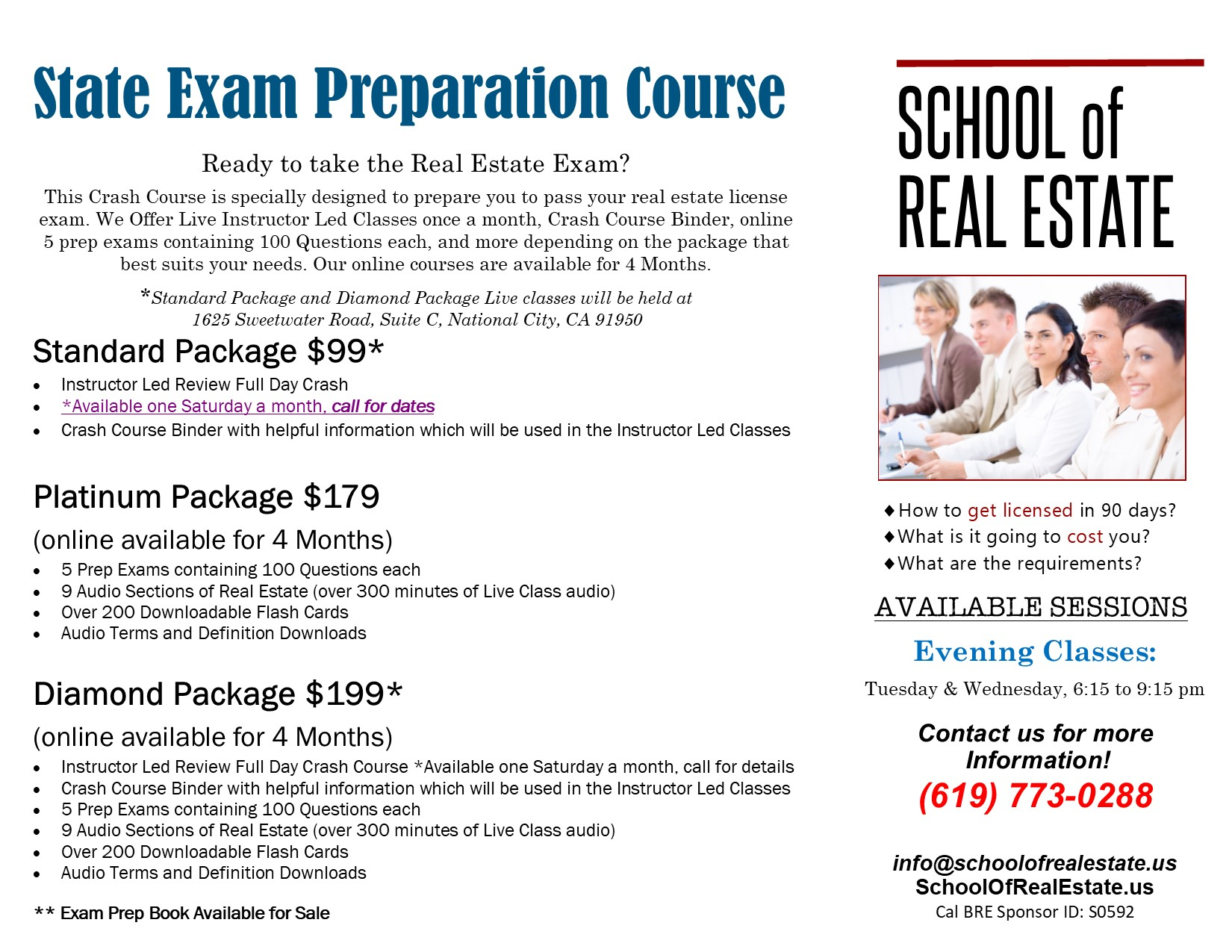 TRI-Fold_SchoolOfRealEstate - Crash Course outside
