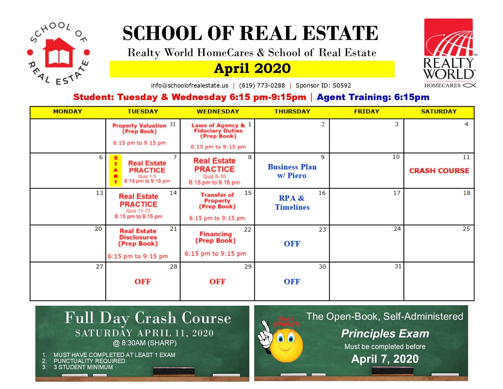 SchoolOfRealEstate_Newsletter_2020April